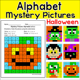 Halloween Alphabet Mystery Pictures - Letter Recognition Worksheets