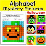 Halloween Activities - Alphabet Mystery Pictures: Vampire,