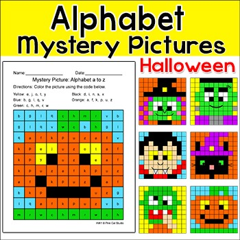 Halloween Activities - Alphabet Mystery Pictures: Vampire,