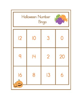 Halloween Alphabet, Number, Beginning Sounds, and Sight Word Bingo Games