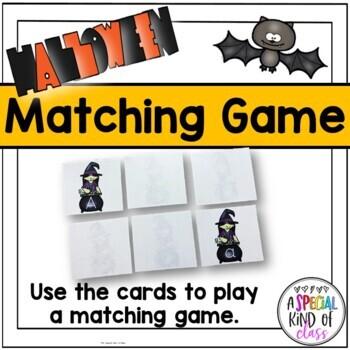 Kindergarten Halloween Alphabet Match Freebie