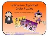 Halloween Alphabet Order Puzzles