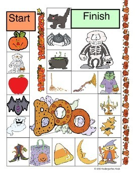 Halloween Early Reading Games