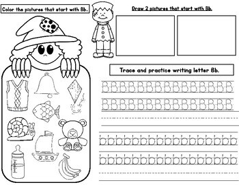 Halloween Alphabet Practice:  Draw, Color, Trace, and Write the ABC's