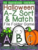 Halloween Alphabet Sort & Match File Folder Game