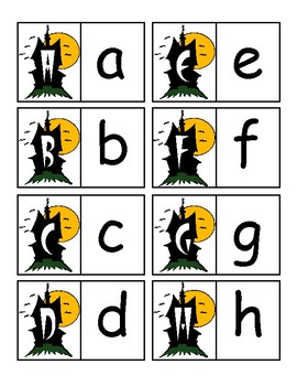 Halloween Alphabet Tasks for Autism