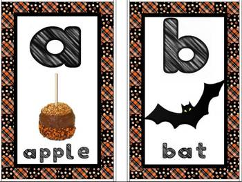 Halloween Alphabet Wall Chart