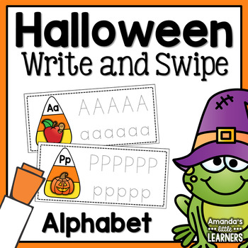 Halloween Alphabet Write and Swipe