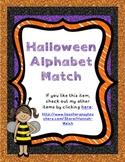 Halloween Alphabet and Beginning Sound Match