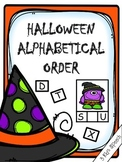 Halloween Alphabetical Order