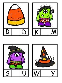Halloween Alphabetical Order