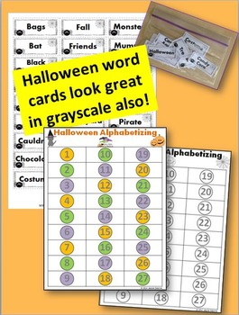 Halloween Alphabetizing Game