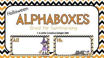 Halloween Alphaboxes