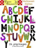 Halloween Alphabet {Primary Polka Dots Clip Art}
