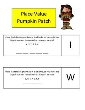 Halloween Amazing Race Math Practice 3rd and 4th Grade