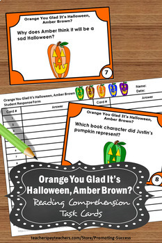 Orange You Glad It's Halloween, Amber Brown? Book Halloween Literacy Centers