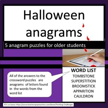 Halloween Anagrams