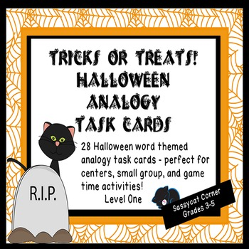 Halloween Analogy Task Cards - Trick or Treat!