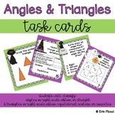 Halloween Angles and Triangles Task Cards