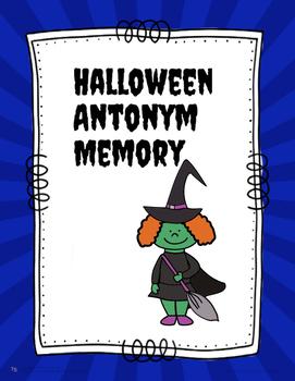 Halloween Antonym Memory