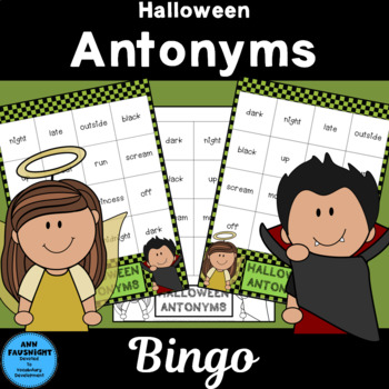 Halloween Antonyms Bingo Jr.
