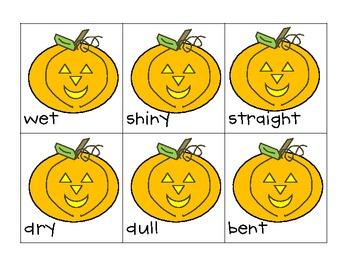 Halloween Antonyms--Practice for Kindergarten Students