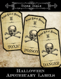"Freebie: Halloween Apothecary Labels ""School Lab of Horrors"""