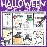 Halloween Apraxia Homework