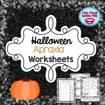 Halloween Apraxia Worksheets