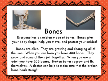 Informational Reading About Bone Health and a Bone Experiment!