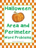 Halloween Area and Perimeter CGI Word Problems