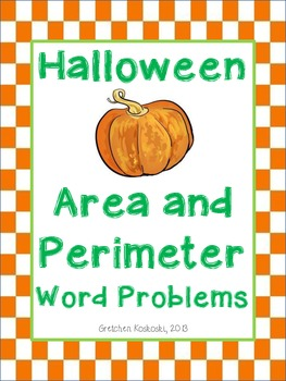 Halloween Area and Perimeter CGI Word Problems