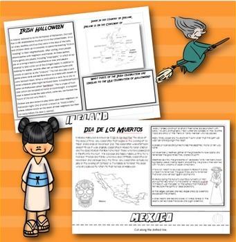 Halloween Around the World Flip Book: Interactive Activity for Grades 3-5