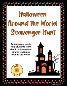 Halloween Around the World Scavenger Hunt