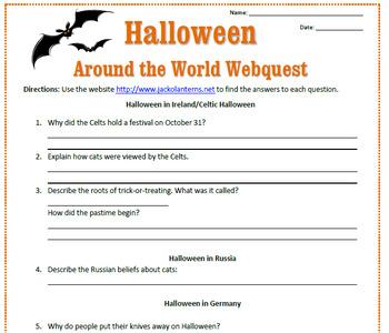 Halloween Around the World Webquest
