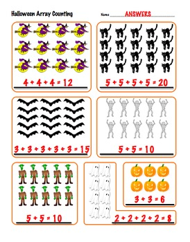 halloween array counting 2nd grade math common core 2 oa. Black Bedroom Furniture Sets. Home Design Ideas