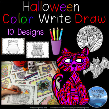 Halloween Craft: Halloween Coloring Pages and Halloween Writing Paper