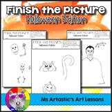 Halloween Art Activity: Finish the Picture!