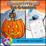 Halloween Art Lesson, Cat-O-Lantern Art Project