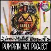 Halloween Art Lesson, Jean-Michel Basquiat inspired Pumpkin