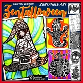 Halloween Art Lesson Plan : Zentalloween ! Zentangle Art