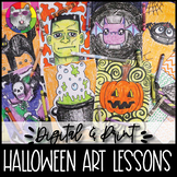 Halloween Art Lessons Booklet, Distance Learning {DIGITAL