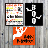 Halloween Art Prints - Printable Wall Art - Halloween Decorations