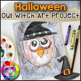 Halloween Art Project, Owl Witch