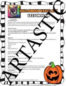 Halloween Art Lesson