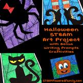 Halloween Art and Math Activity with Bonus Writing Prompts Craft