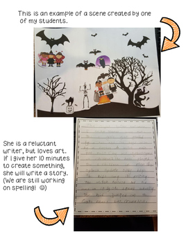 Halloween Art and Writing Craftivity - Fun and Educational