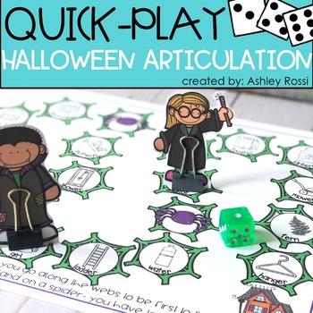 Halloween Articulation - A Quick Play Game