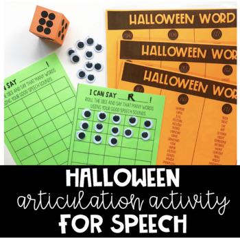 Halloween Articulation Activity for Speech (EDITABLE)