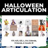 Halloween Articulation! F/V, K/G, L, CH, Voc R, S/Z, S ble